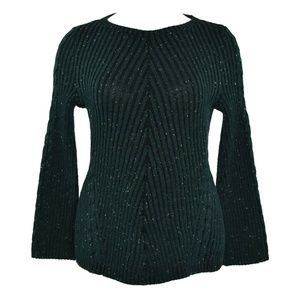 Style & Co Ribbed & Cable Fitted Sweater PM NWT